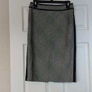 WHBM plaid pencil skirt